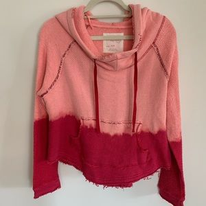 Free People Pink Ombré Crop Sweatshirt